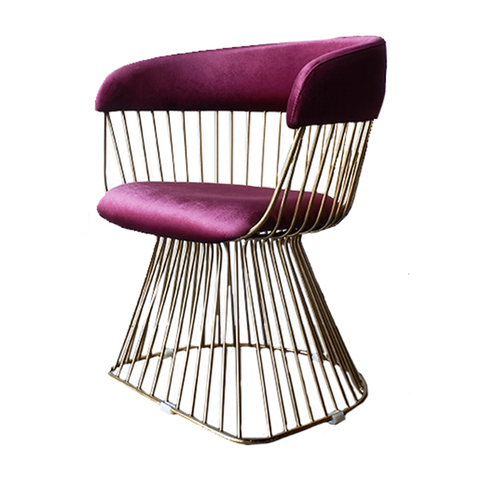 ACCENT CHAIR- VIOLET