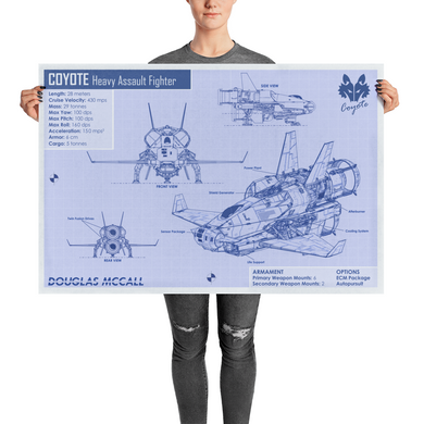 Poster: Coyote Blueprint