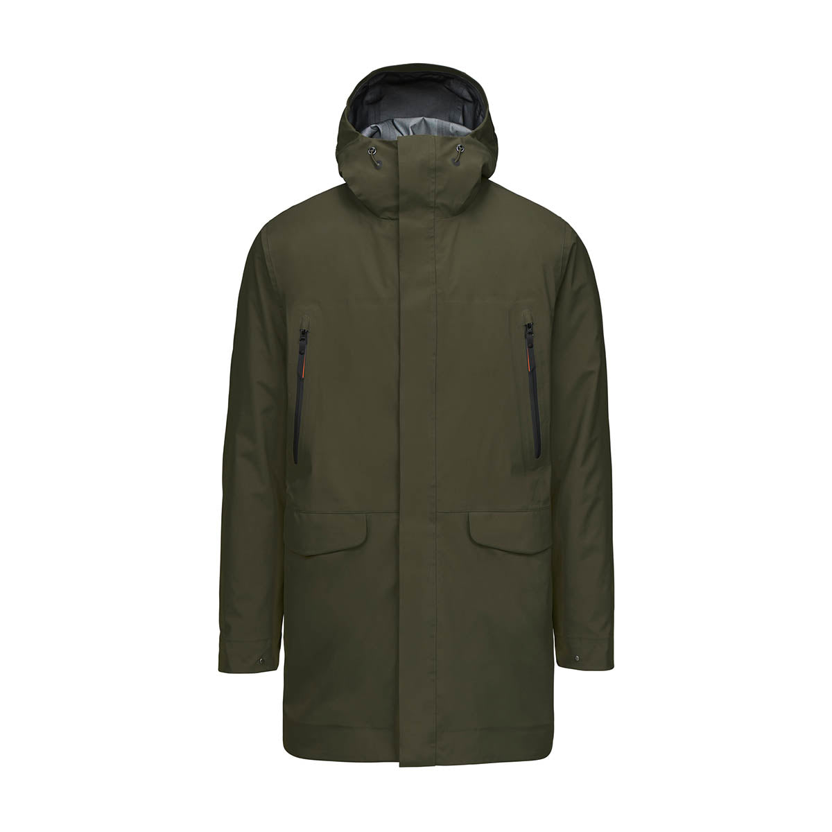 Zürich II Parka - background::white,variant::Dark Pine