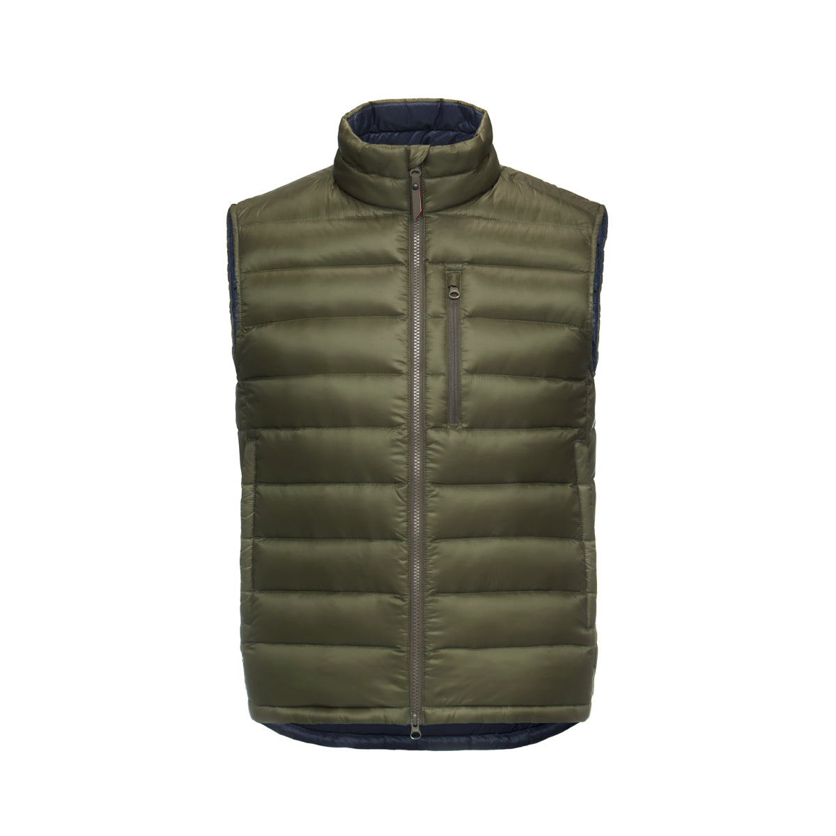 Portland II Vest - background::white,variant::olive