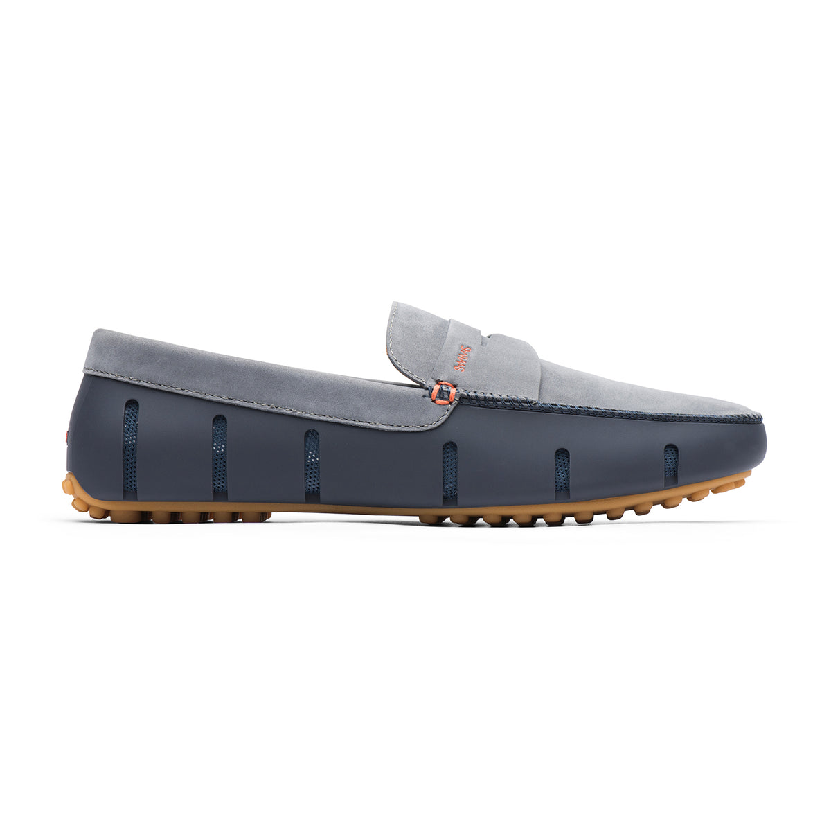 Penny Lux Loafer Driver Nubuck - background::white,variant::Navy/Gray/Gum