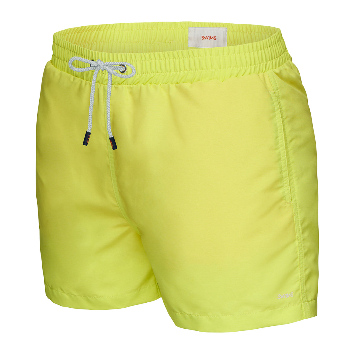 Breeze Swimshort - background::white,variant::Limeade