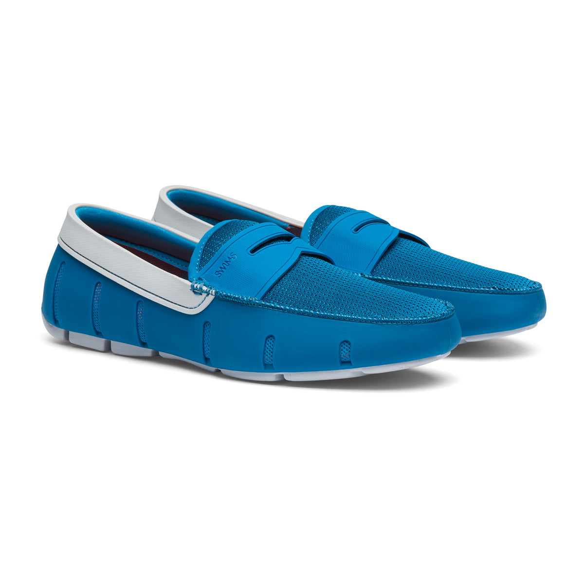 Penny Loafer - background::white,variant::Seaport Blue/Alloy