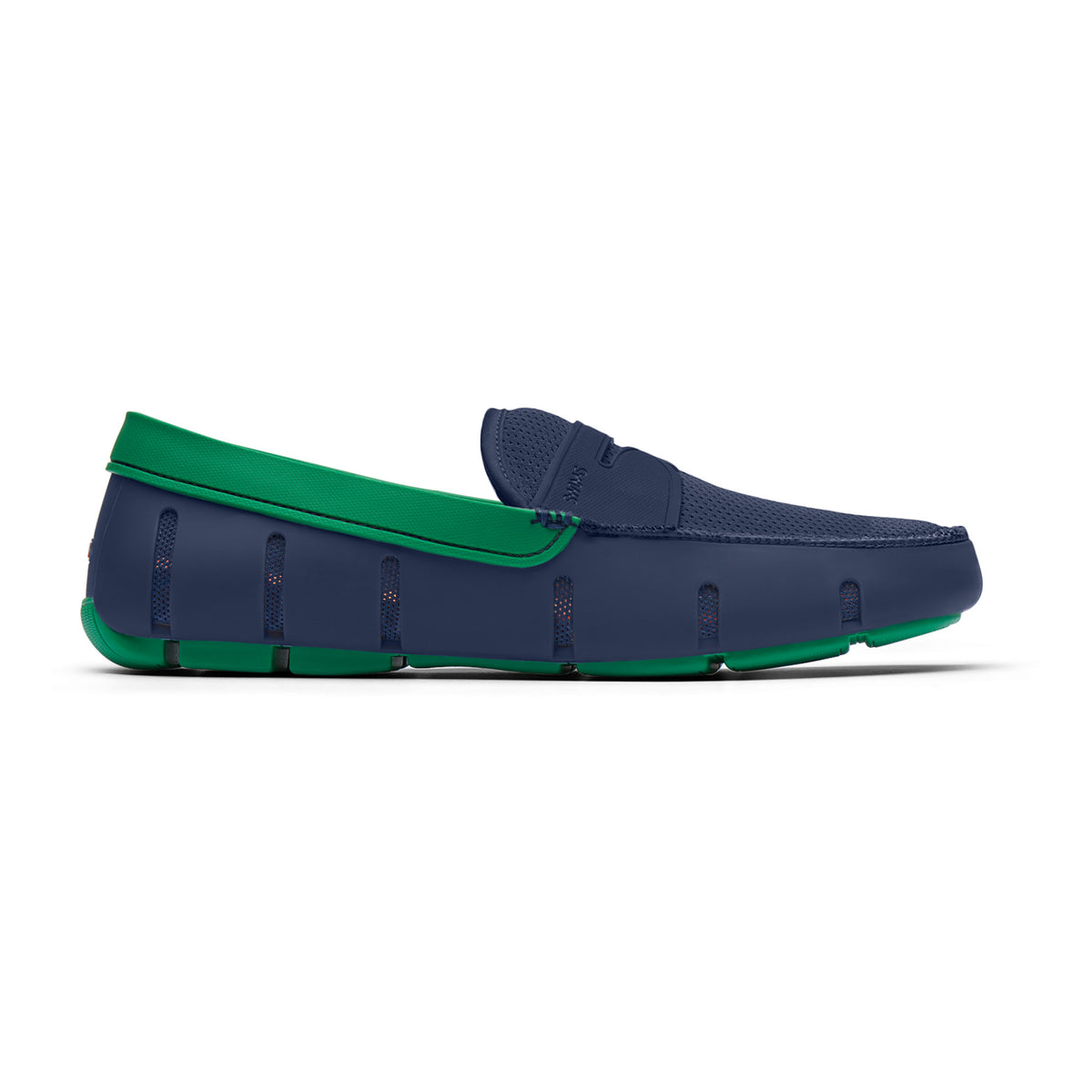 Penny Loafer - background::white,variant::Navy/Jolly Green