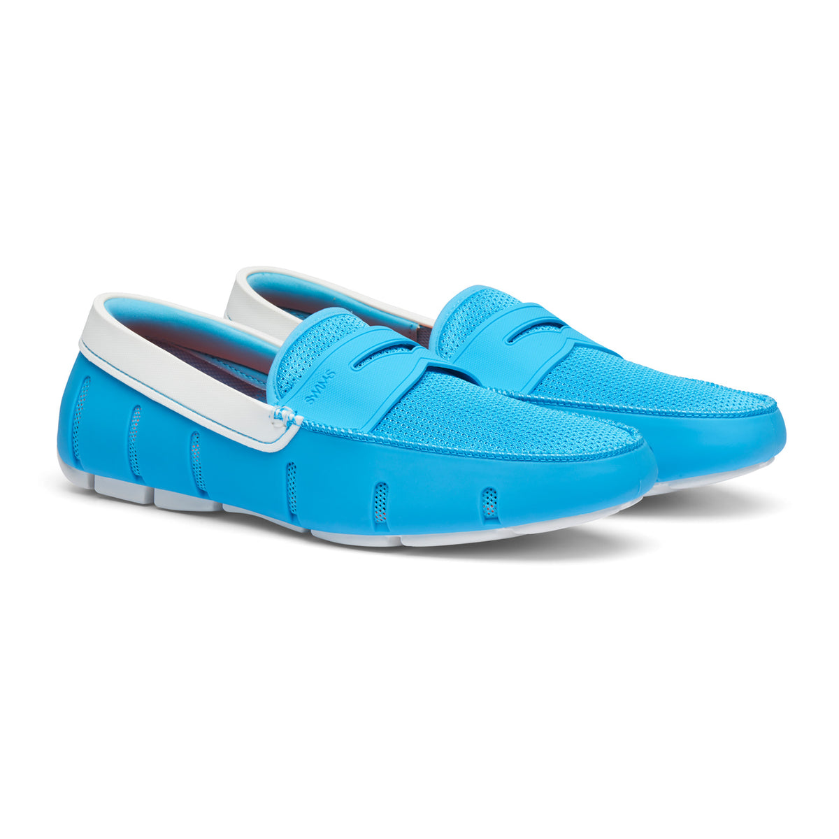 Penny Loafer - background::white,variant::Norse Blue/White
