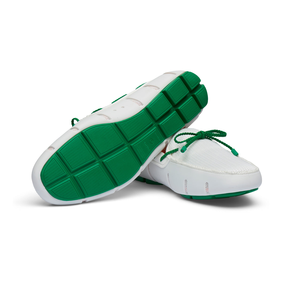 Braided Lace Loafer - background::white,variant::White/Jolly Green