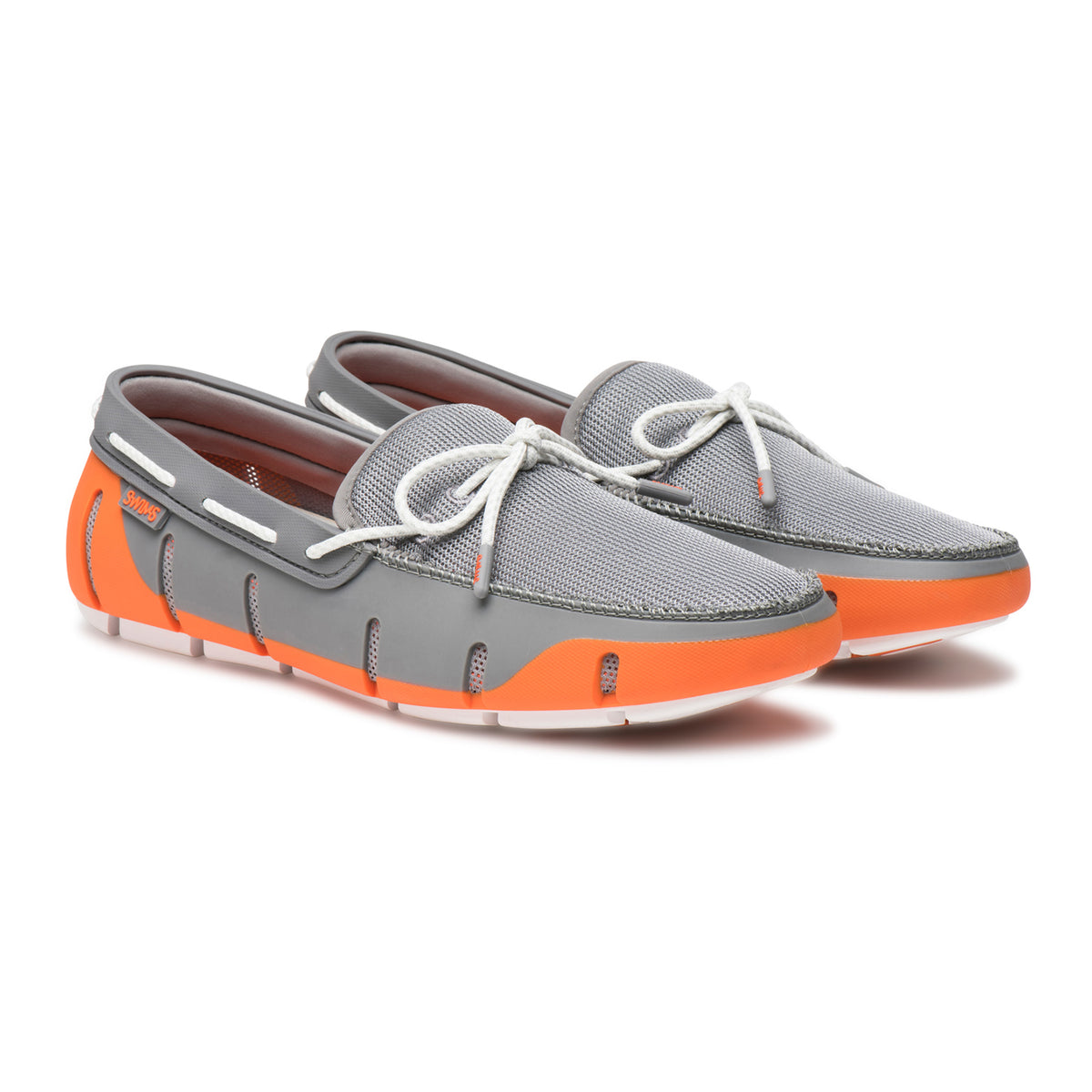 Stride Lace Loafer - background::white,variant::Orange/Gray/White Fleck