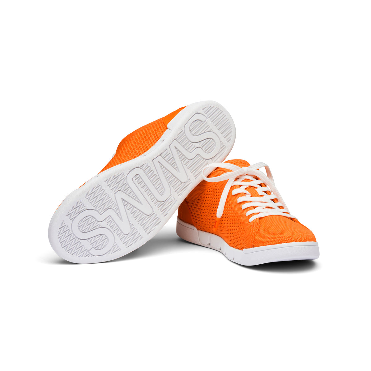 Breeze Tennis Knit - background::white,variant::SWIMS Orange