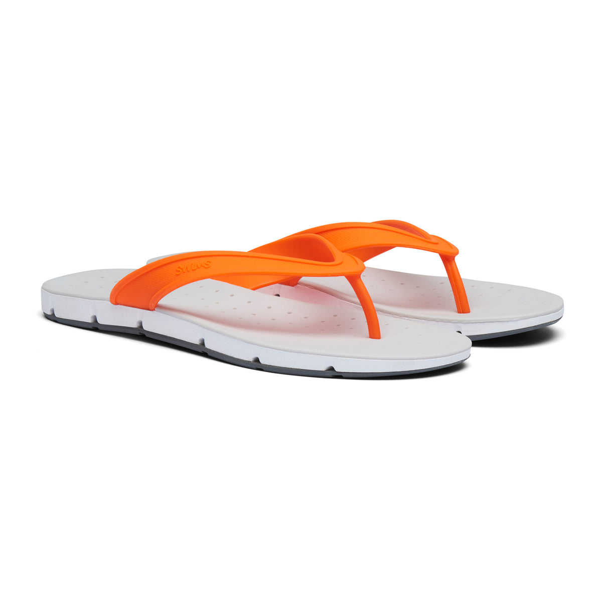 Breeze Thong Sandal - background::white,variant::Orange/White/Gray