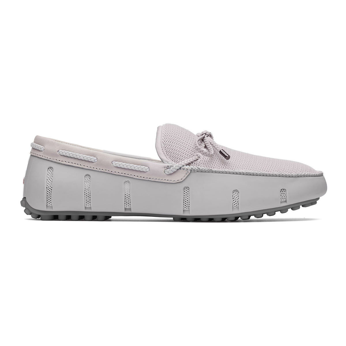 Braided Lace Lux Loafer Driver - background::white,variant::Alloy/Gray