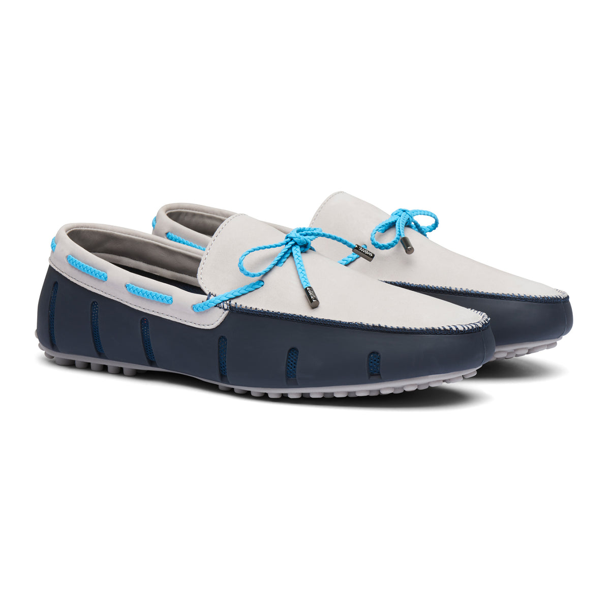 Braided Lace Lux Loafer Driver Nubuck - background::white,variant::Navy/Alloy