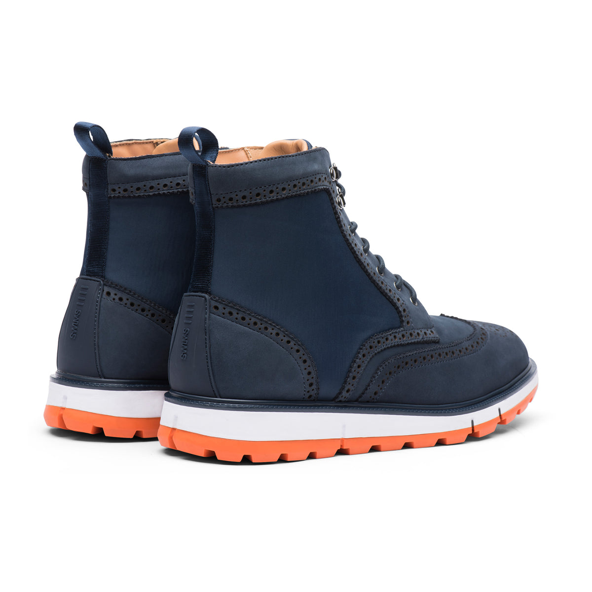 Motion Wing Tip Boot - background::white,variant::Navy/Orange