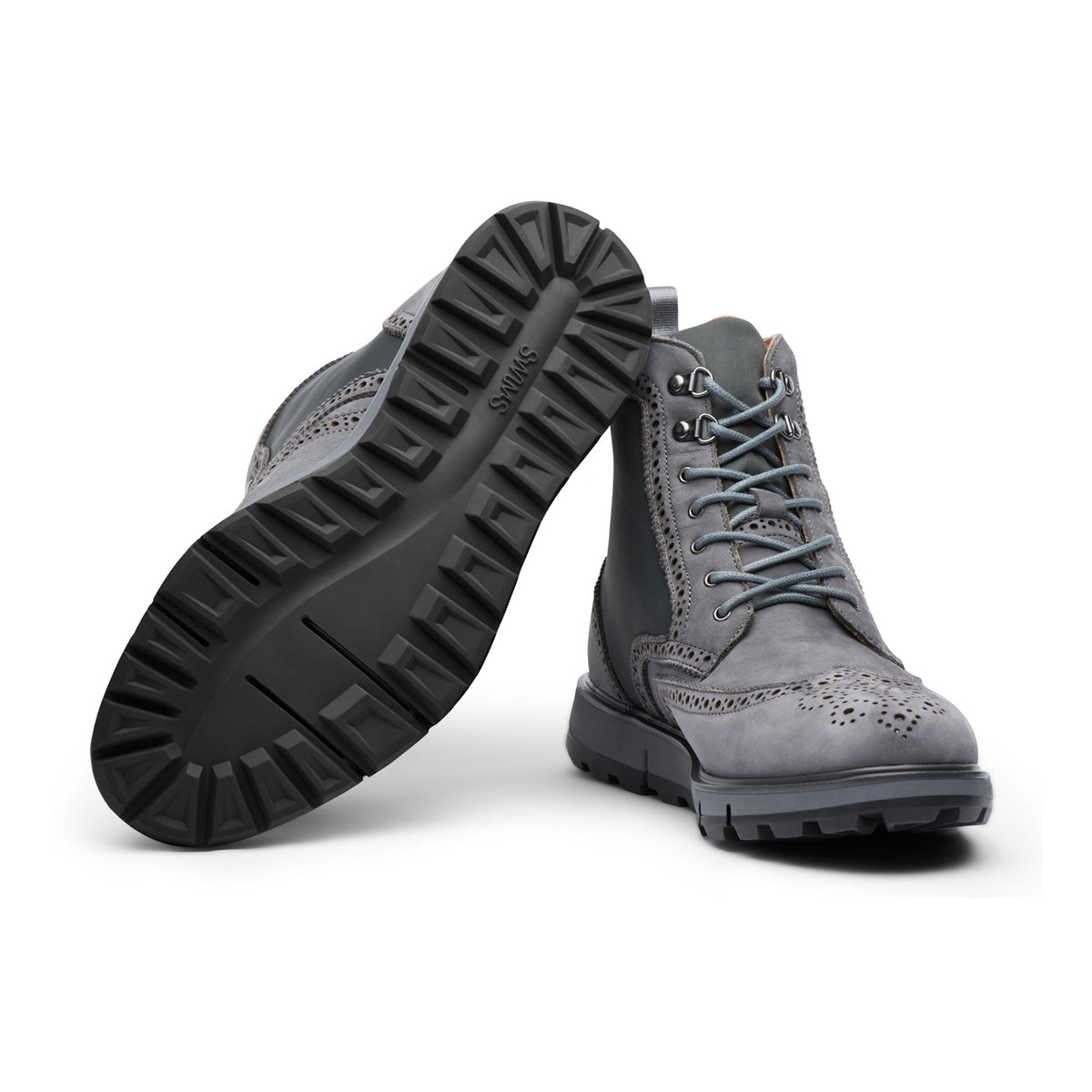 Motion Wing Tip Boot - background::white,variant::Gray/Black