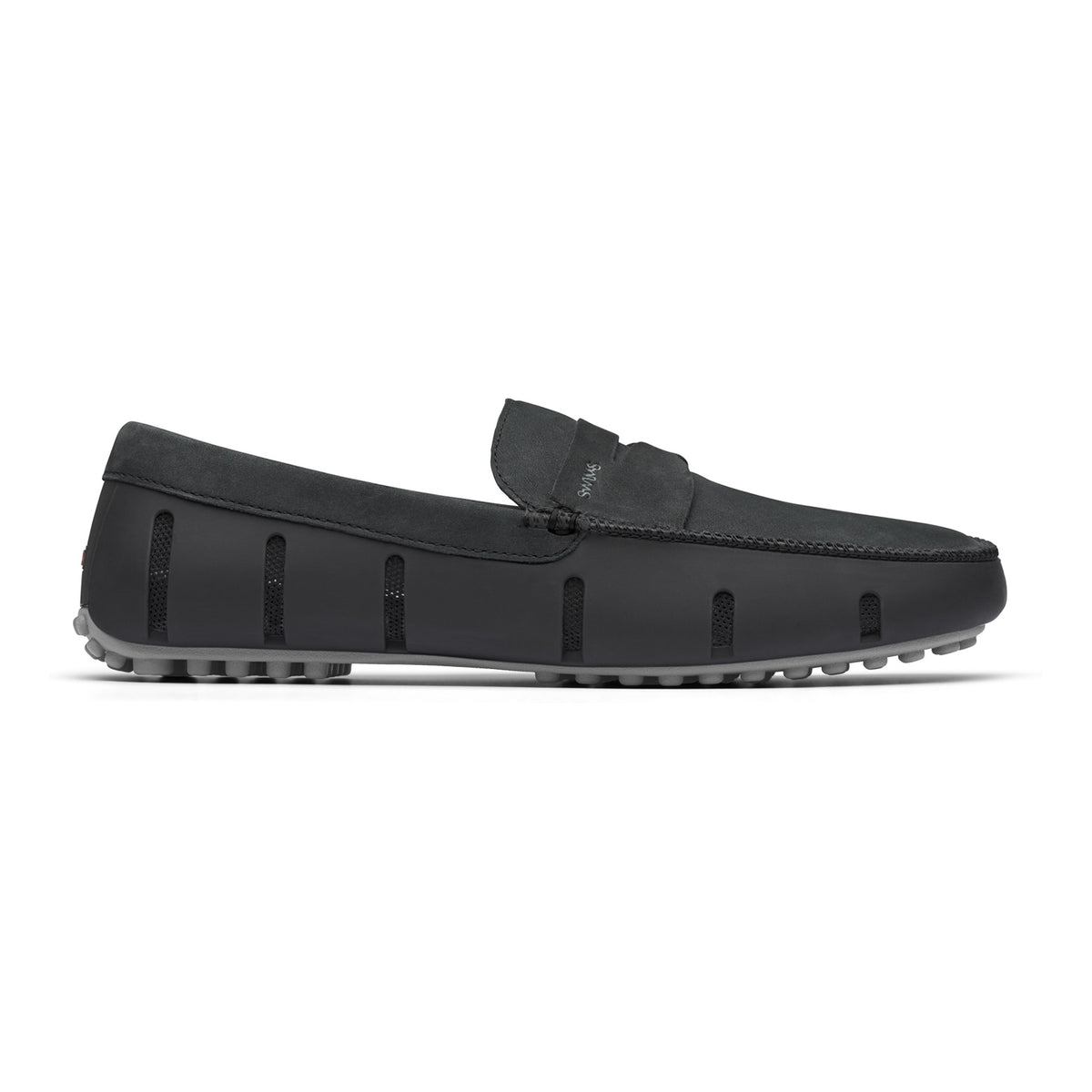 Penny Lux Loafer Driver Nubuck - background::white,variant::Black/Gray