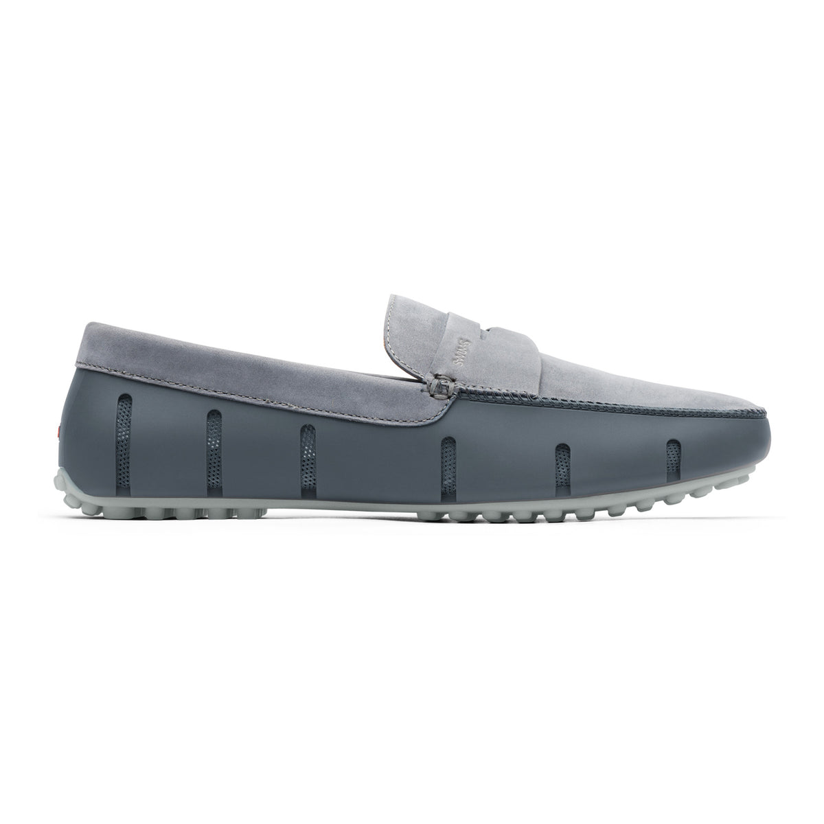 Penny Lux Loafer Driver Nubuck - background::white,variant::Gray/Alloy
