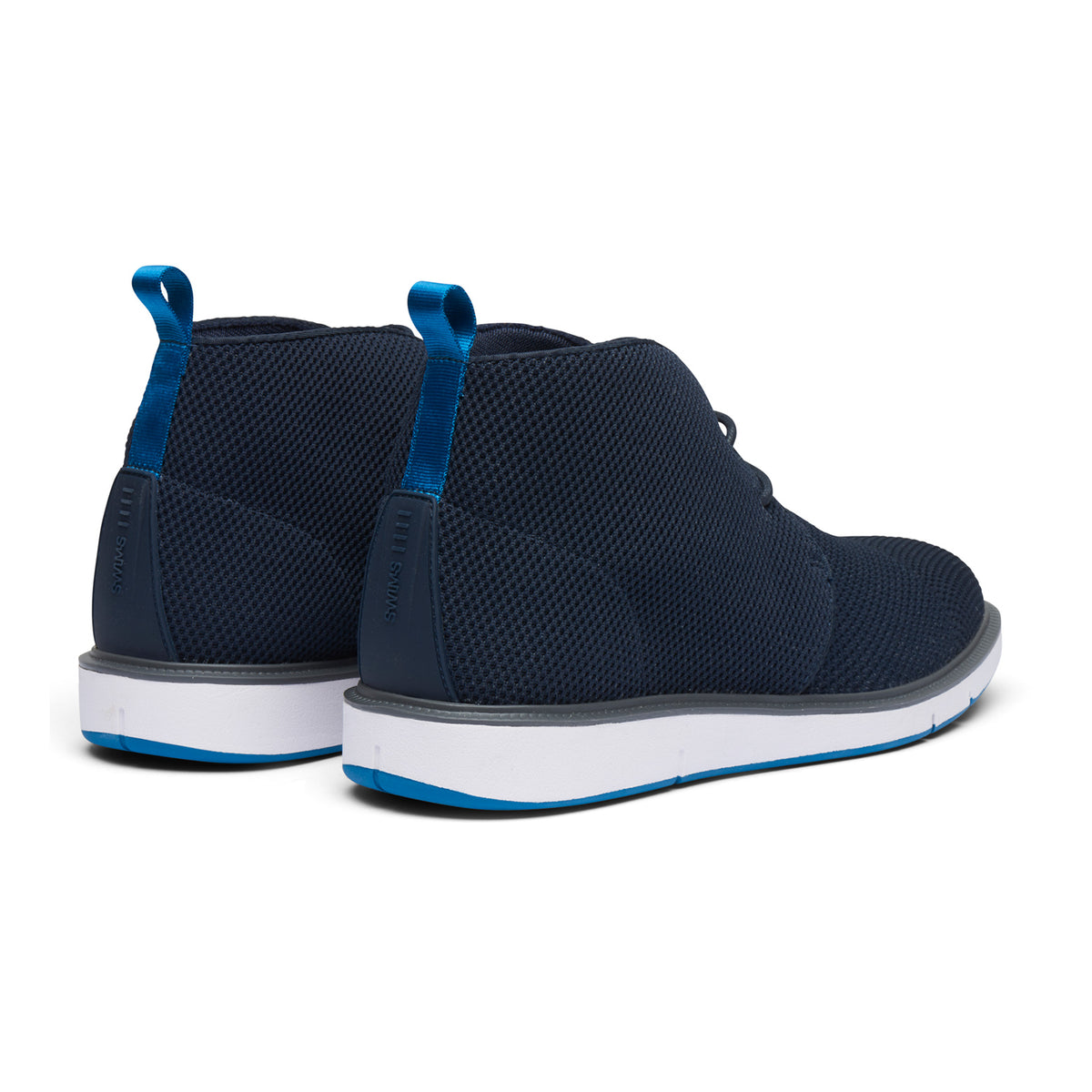 Motion Knit Chukka - background::white,variant::Navy/Seaport Blue