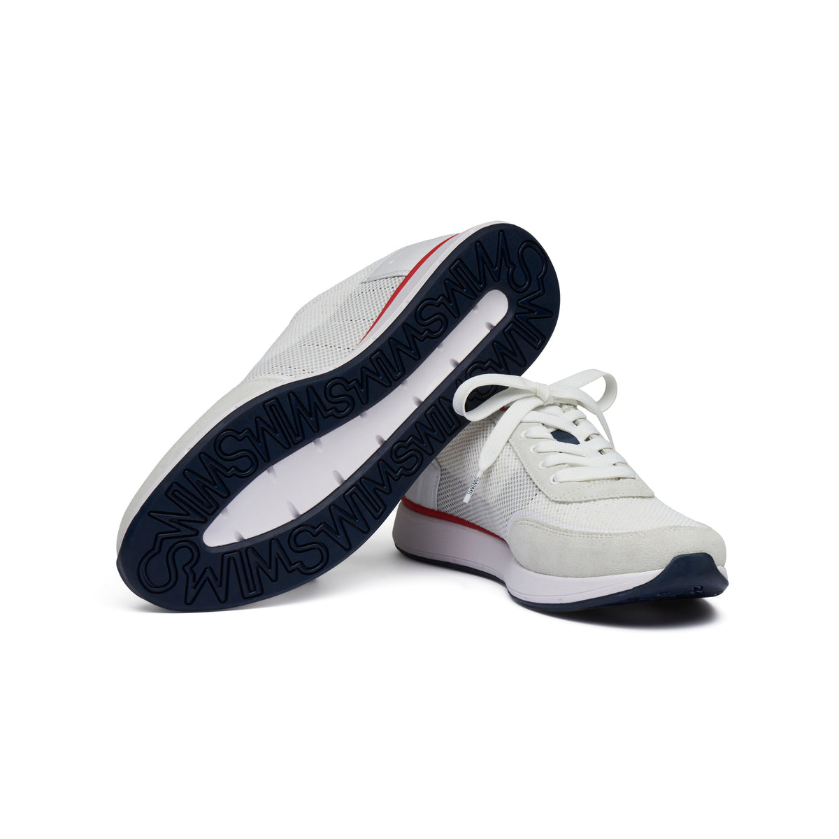 Breeze Wave Athletic - background::white,variant::White/Navy/Glacier Gray/Red