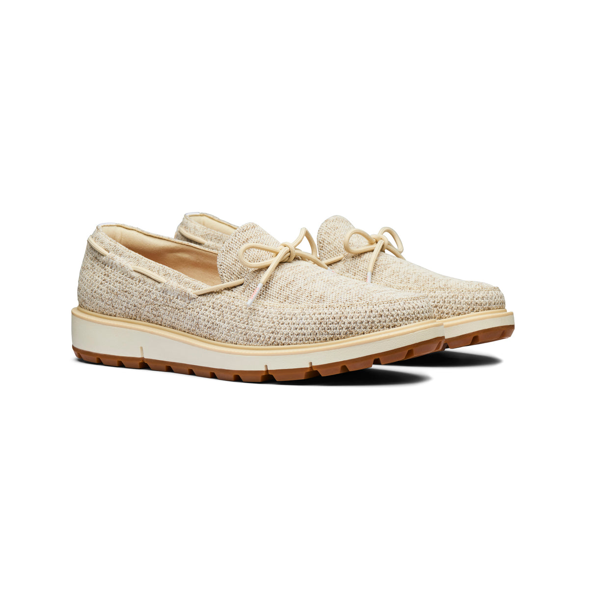 Motion Knit Camp Moccasin - background::white,variant::Chino Green/Limelight/Gum