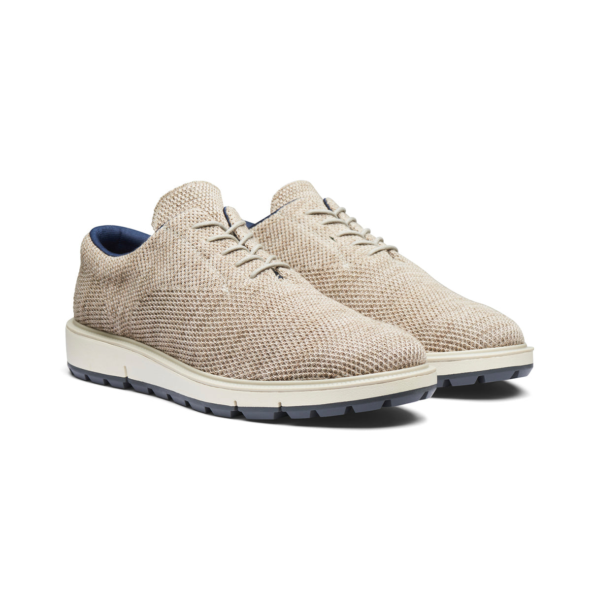 Motion Knit Wool Plain Toe - background::white,variant::grey