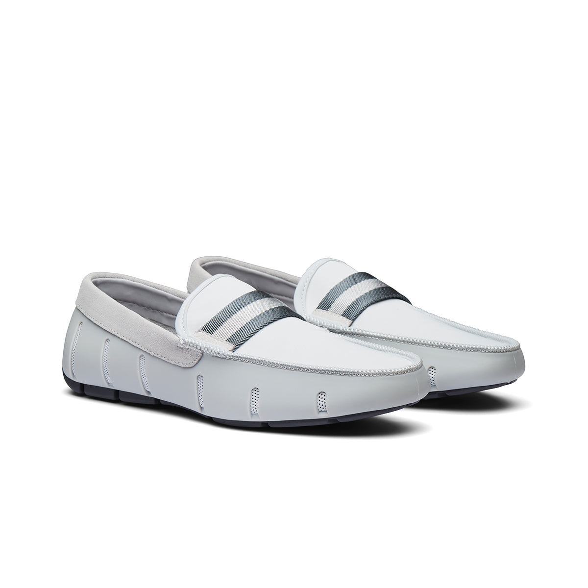 Flex Web Loafer - background::white,variant::Glacier Gray