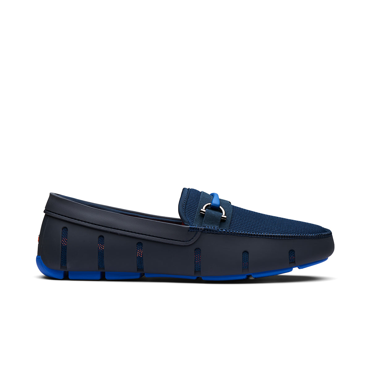 Sporty Bit Loafer - background::white,variant::Navy