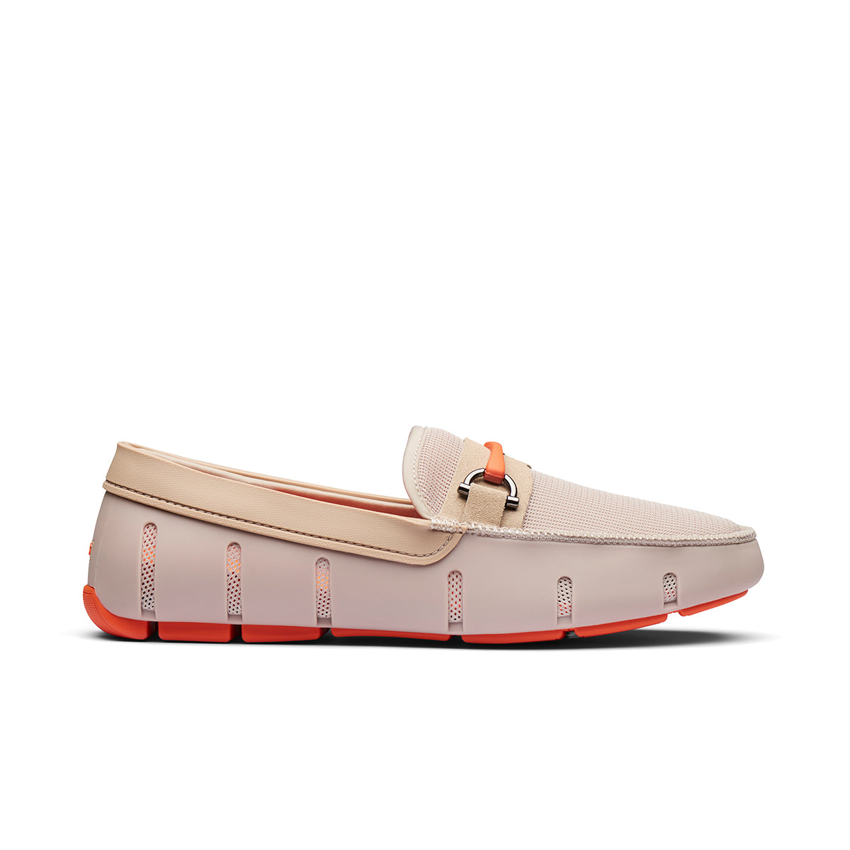 Sporty Bit Loafer - background::white,variant::Khaki