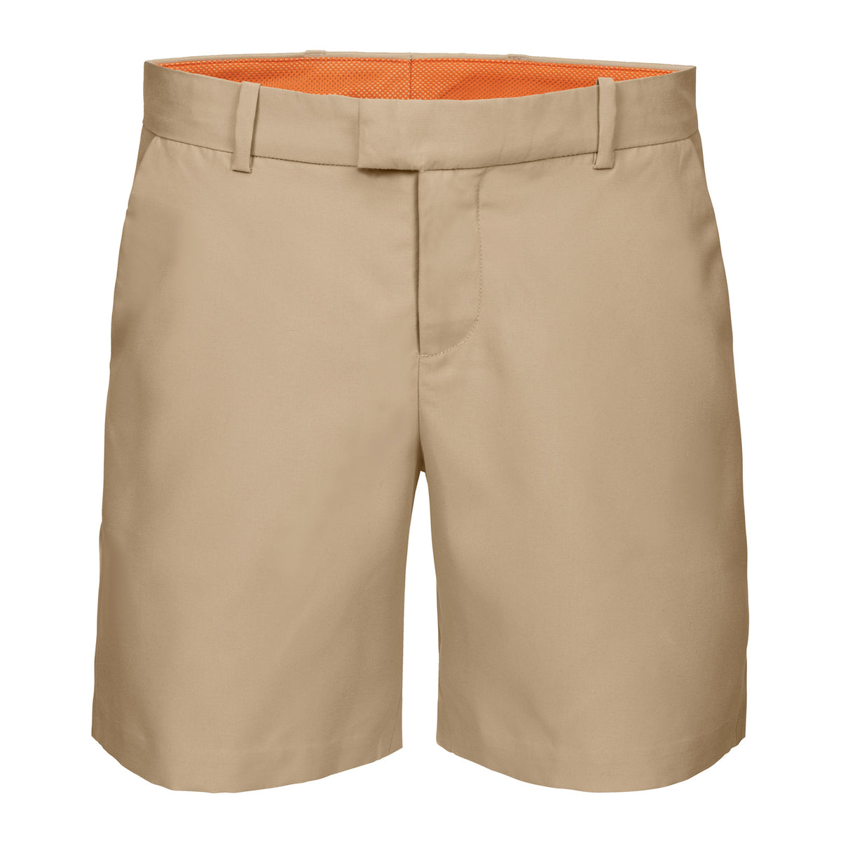 Breeze Classic Shorts - background::white,variant::Sand Beige