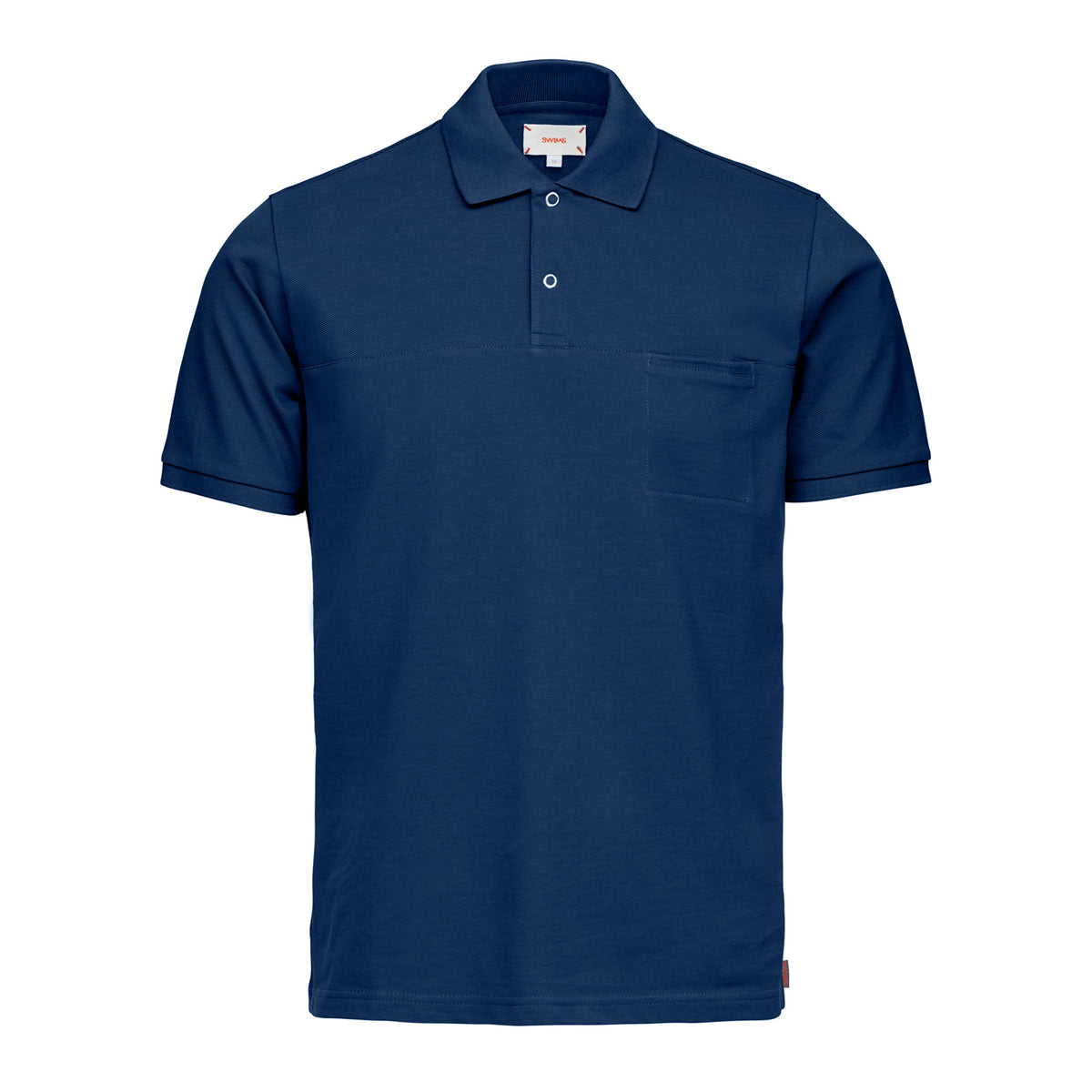 Breeze Polo Shirt - background::white,variant::Navy