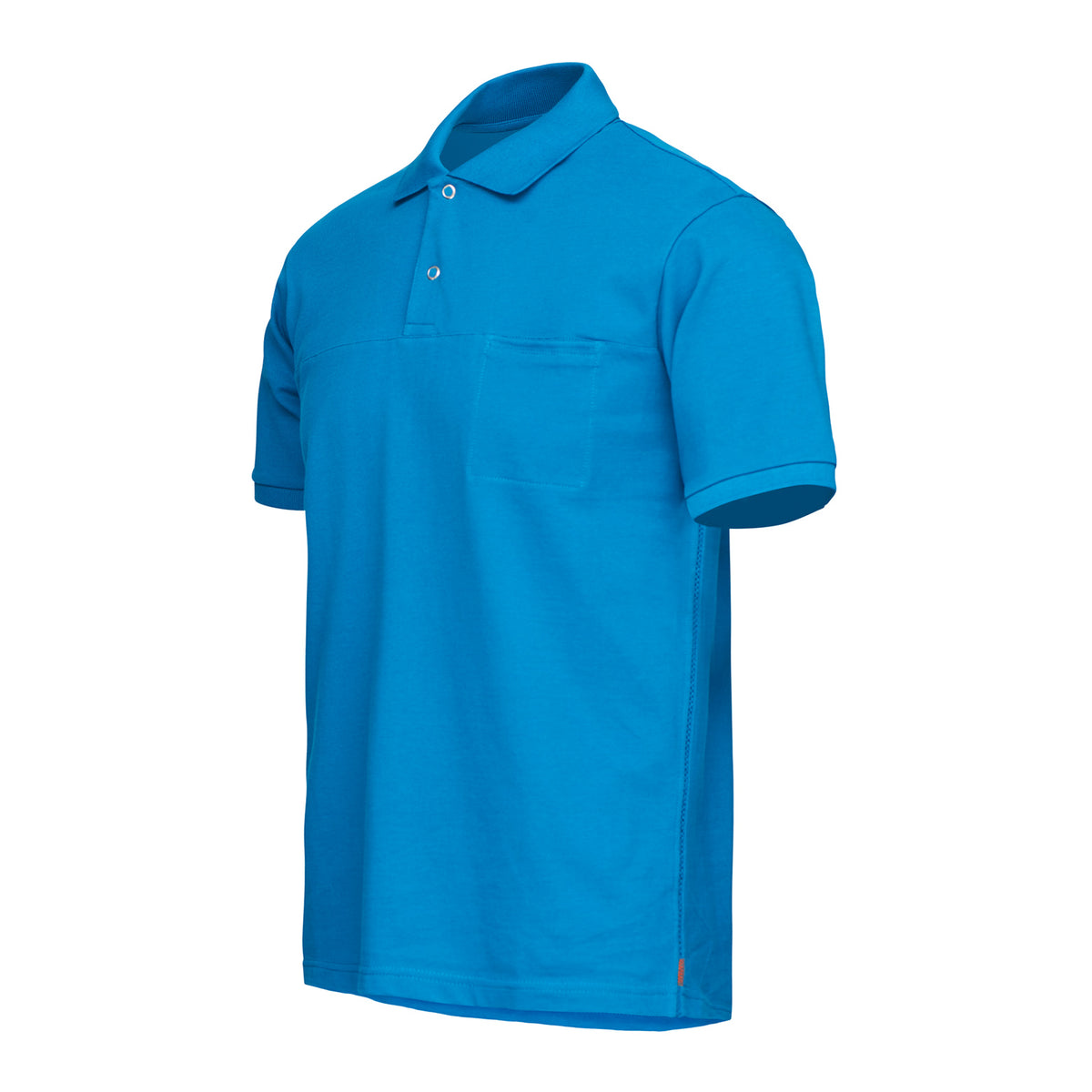 Breeze Polo Shirt - background::white,variant::Seaport Blue