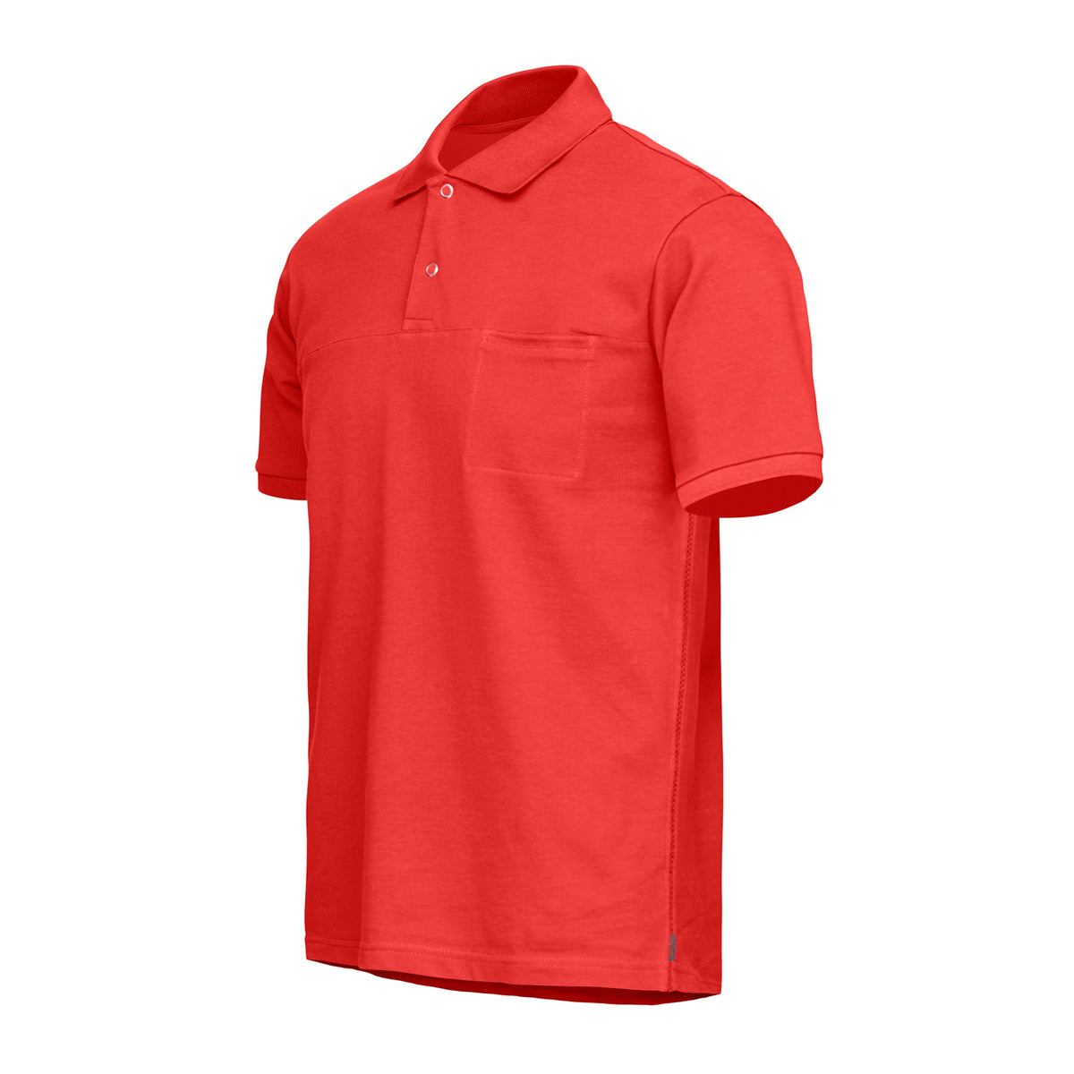 Breeze Polo Shirt - background::white,variant::Red Alert