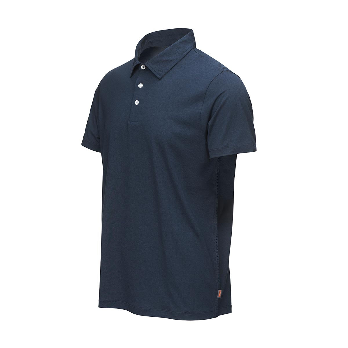 Breeze Hoddevik Polo T-Shirt - background::white,variant::Navy