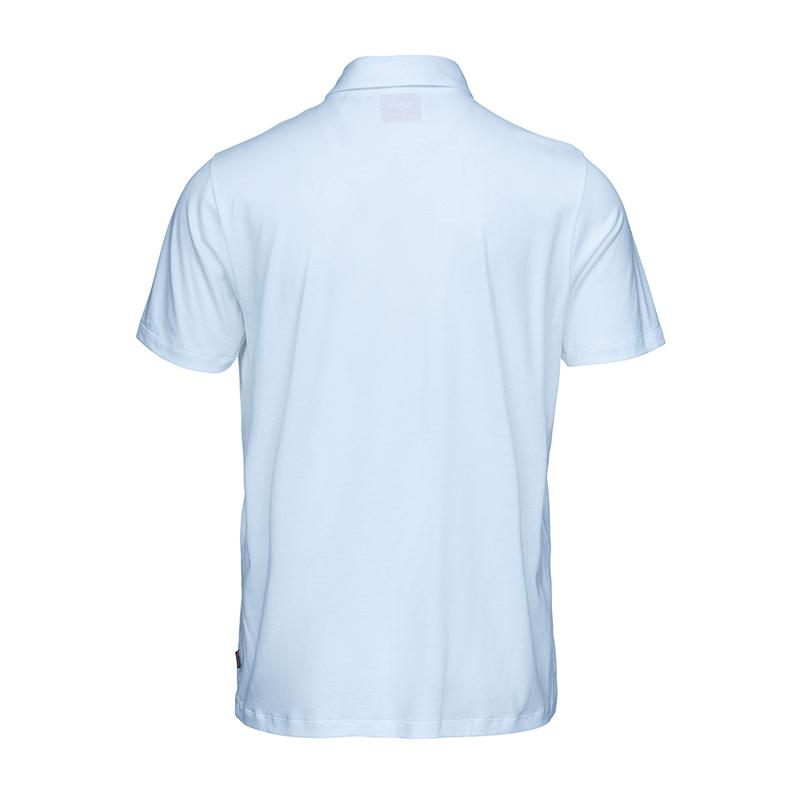Breeze Hoddevik Polo T-Shirt - background::white,variant::Light Blue