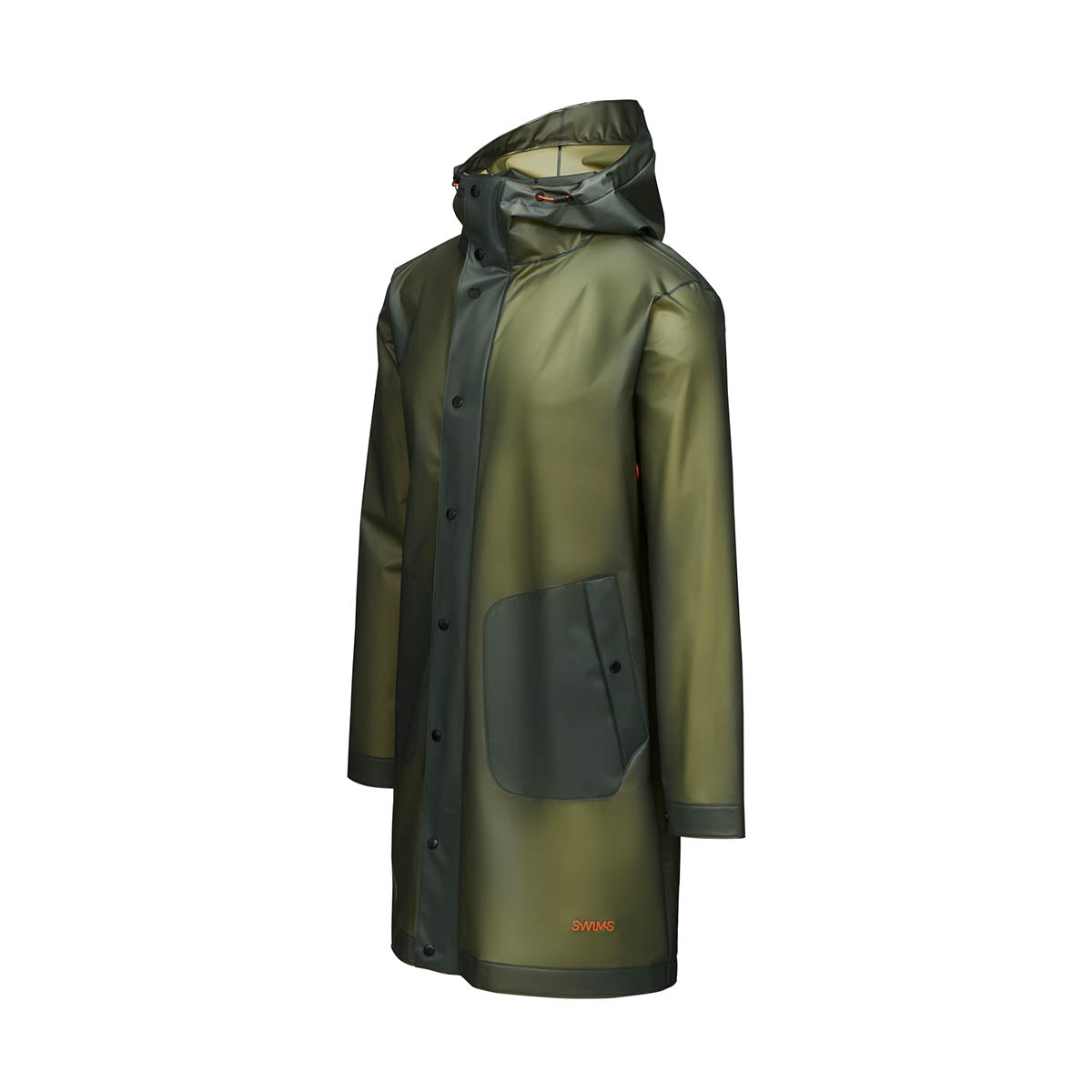 Basel Raincoat - background::white,variant::Olive