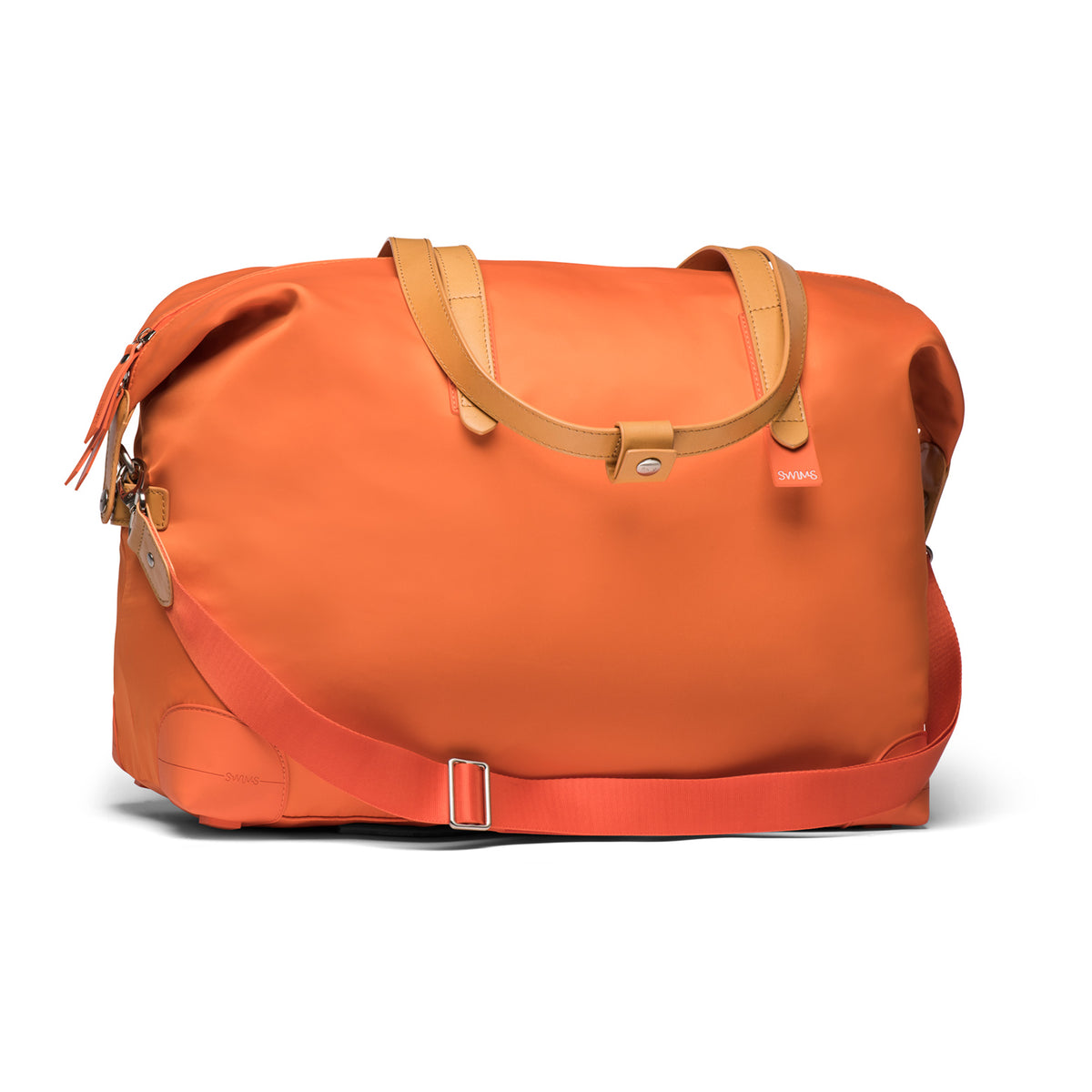 48 Hour Holdall - background::white,variant::Swims Orange