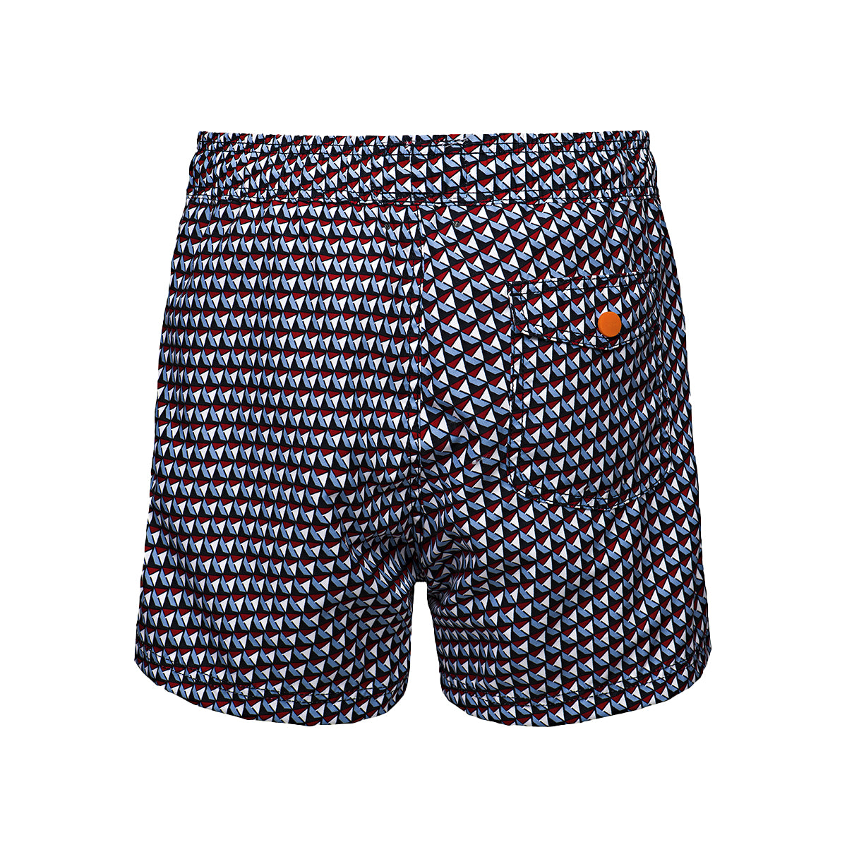 Gavitella Printed Bathing Shorts - background::white,variant::navy
