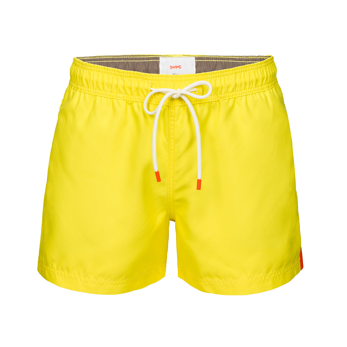 Gavitella Solid Bathing Shorts - background::white,variant::yellow