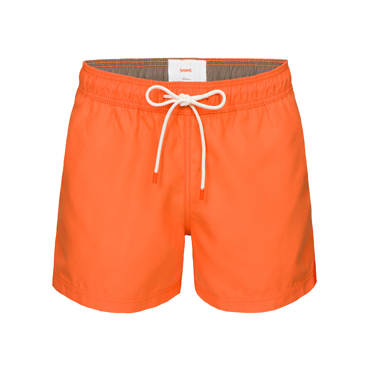 Gavitella Solid Bathing Shorts - background::white,variant::orange