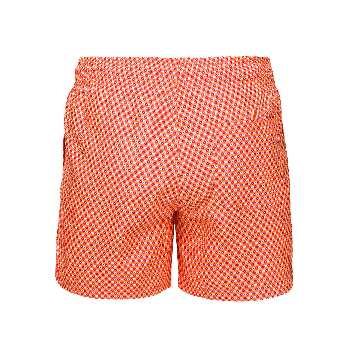 Montego Printed Bathing Shorts - background::white,variant::orange
