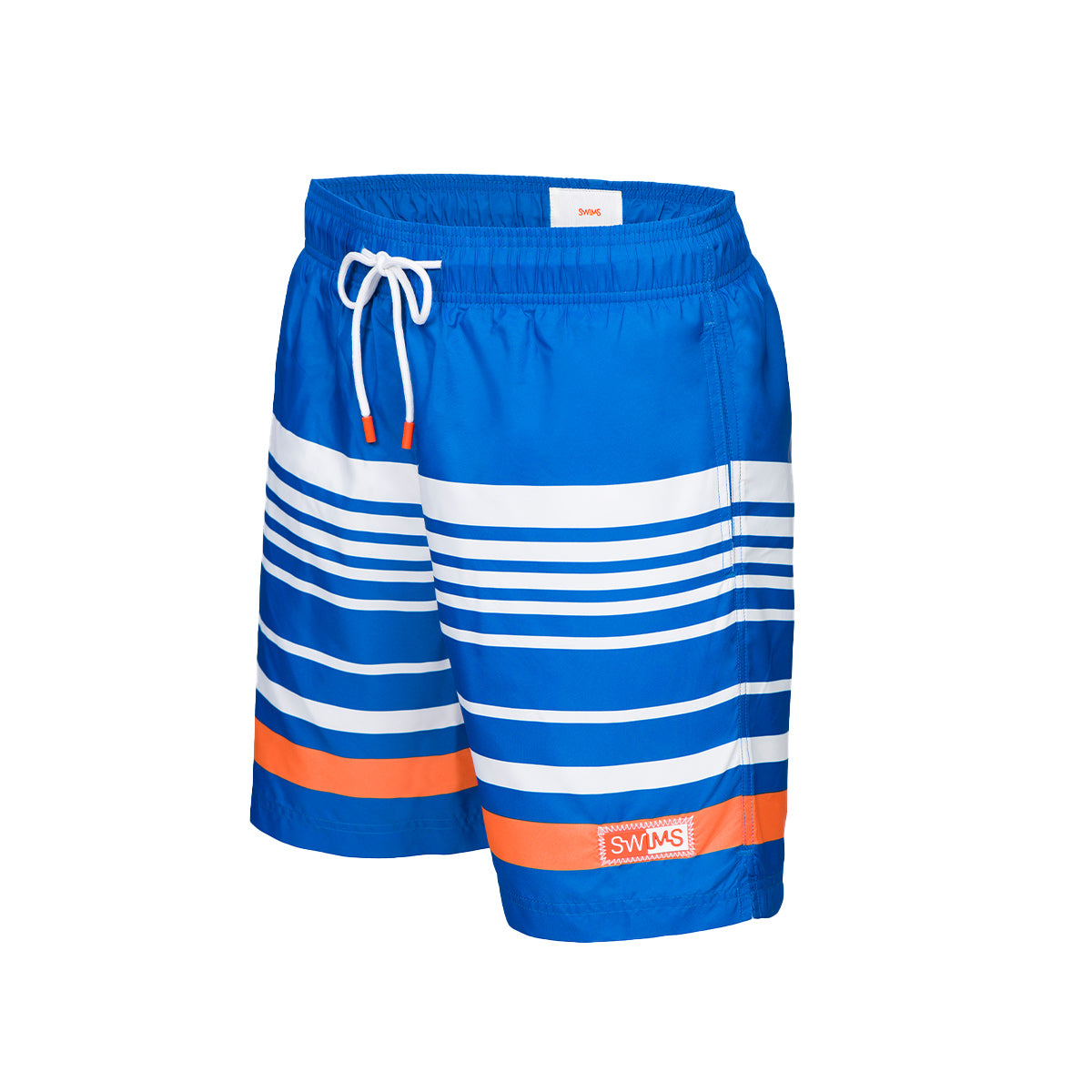 Lucea Logo Bathing Shorts - background::white,variant::navy