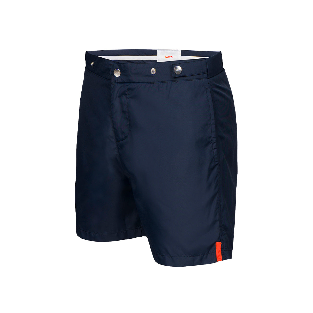 Praiano Solid Bathing Shorts - background::white,variant::navy