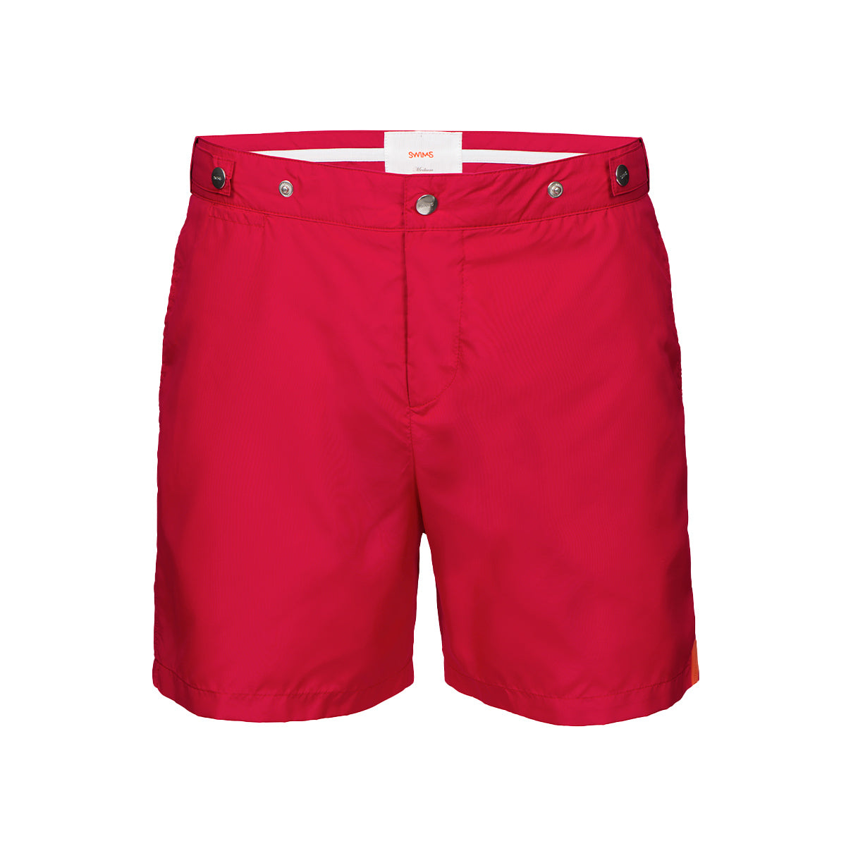 Praiano Solid Bathing Shorts - background::white,variant::red