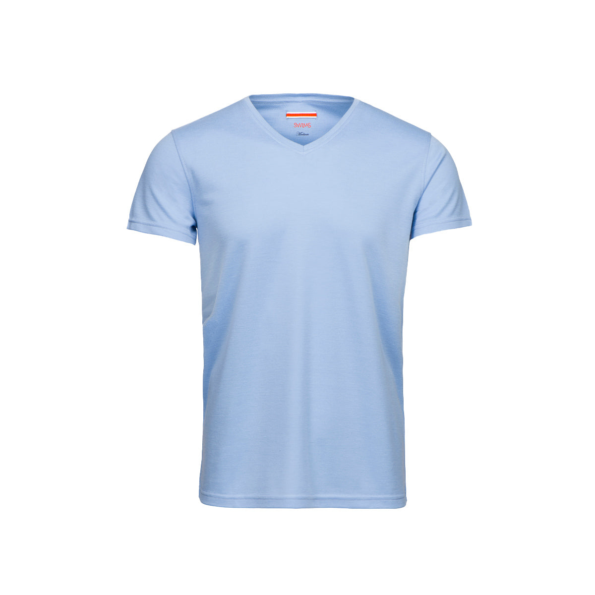 Citara V Neck T-Shirt - background::white,variant:sky