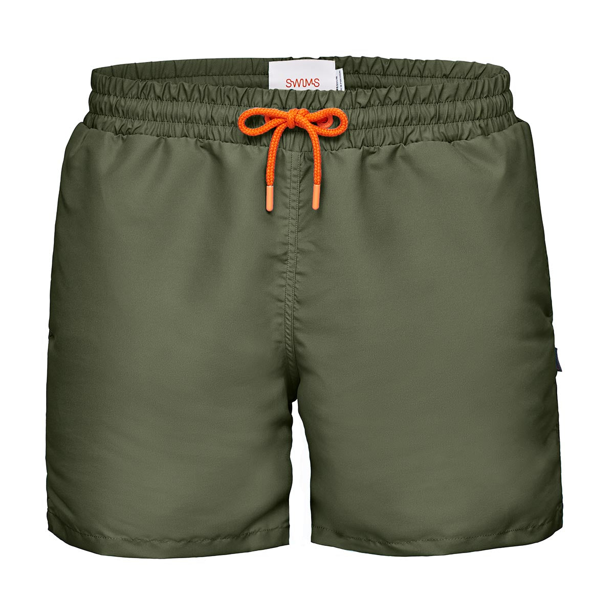 Breeze Portofino Swim Shorts (Short) - background::white,variant::Olive