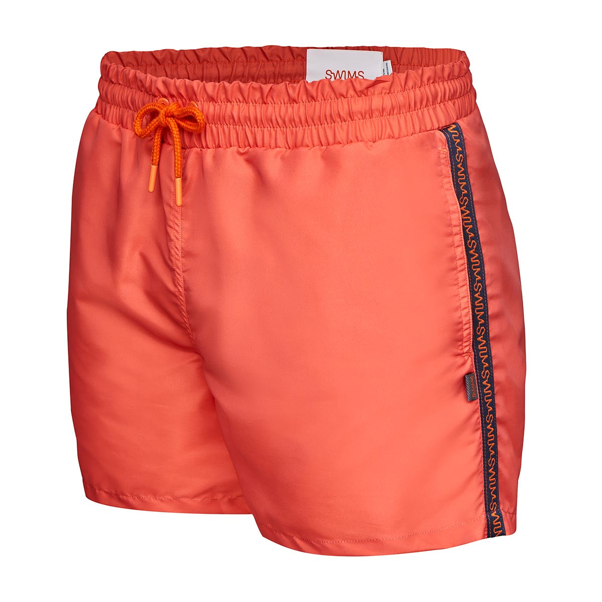 Breeze Portofino Swim Shorts (Short) - background::white,variant::SWIMS Orange