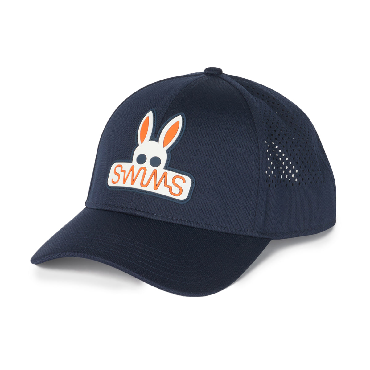 Psycho Bunny x SWIMS Baseball Cap - background::white,variant::navy