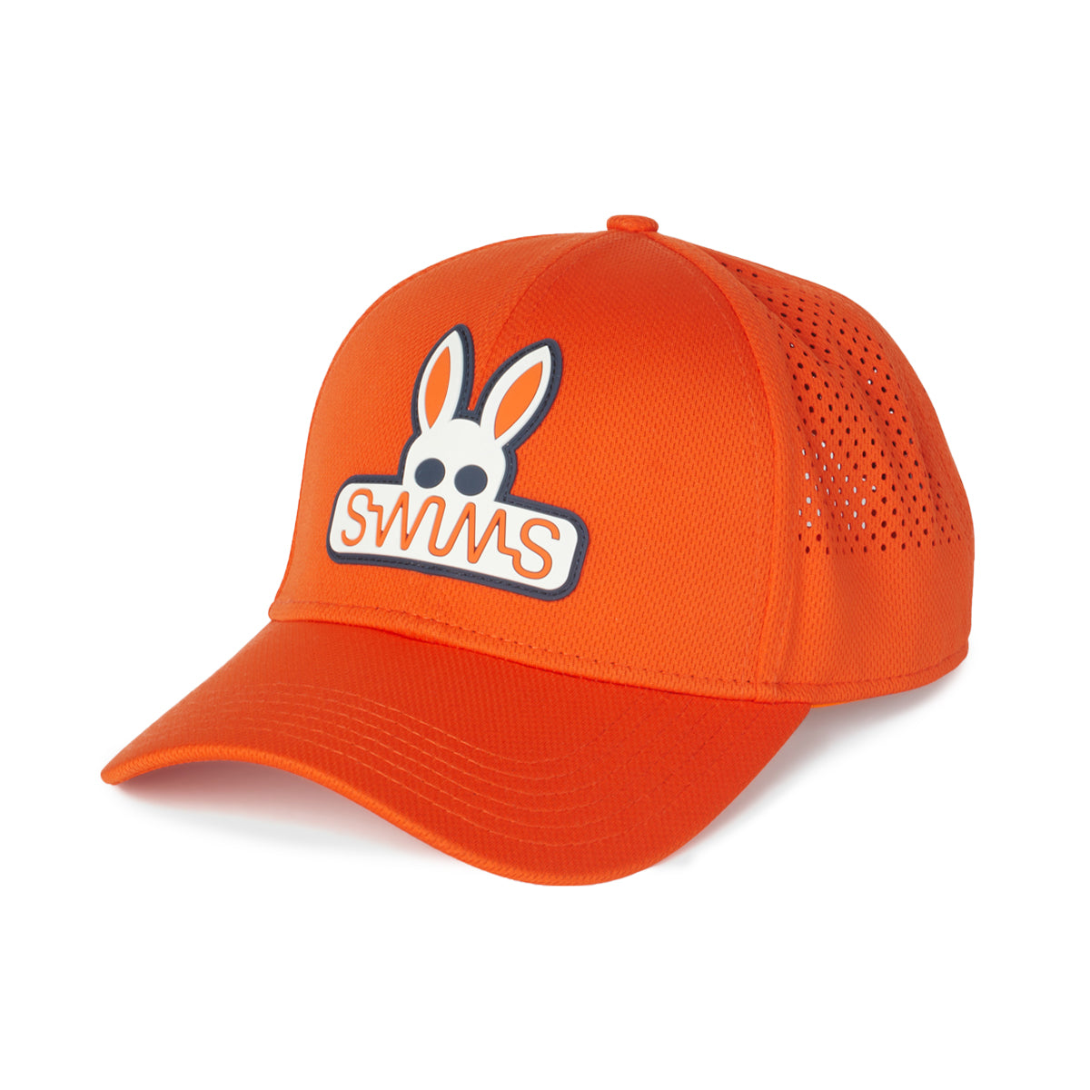 Psycho Bunny x SWIMS Baseball Cap - background::white,variant::vermillion
