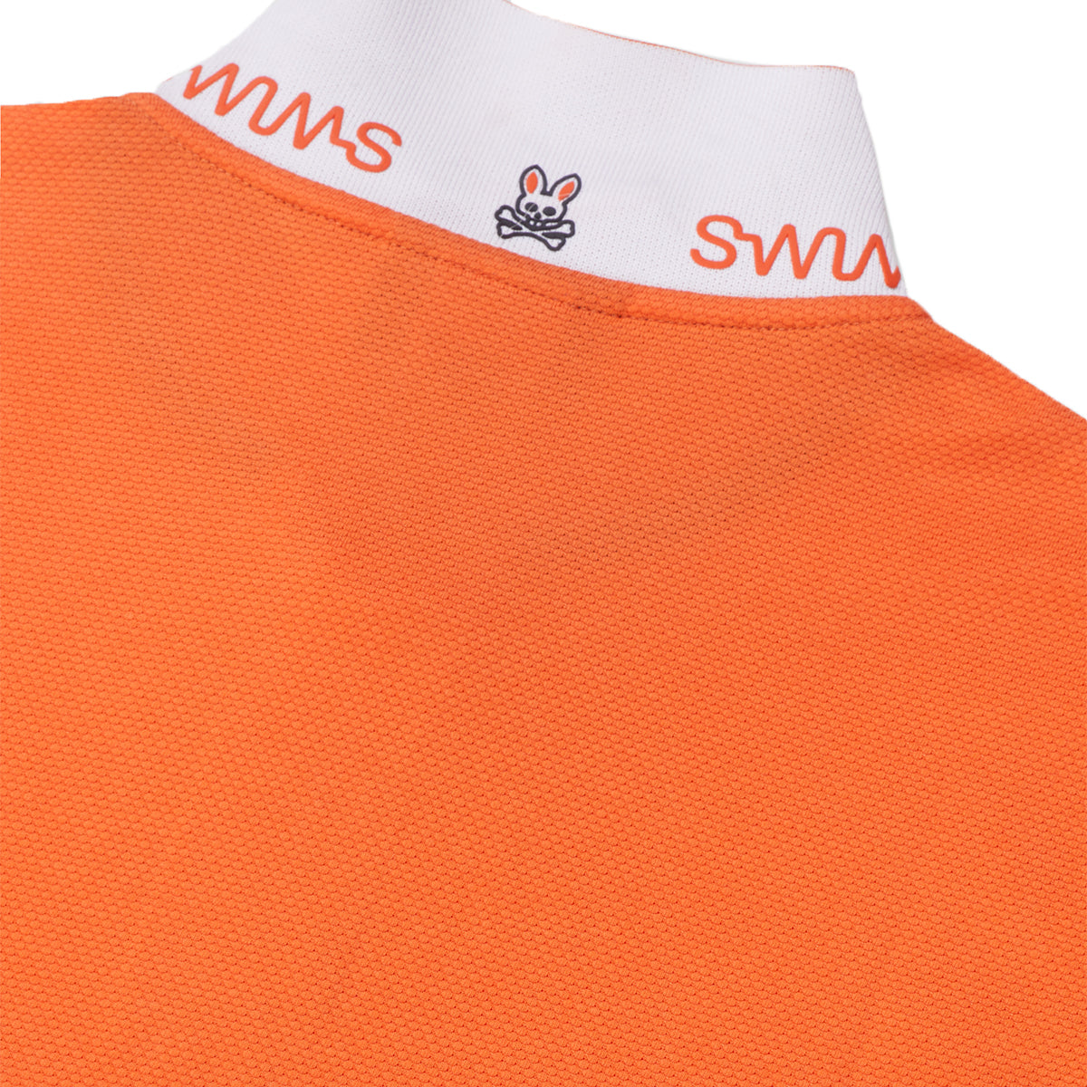 Psycho Bunny x SWIMS Arendale Polo - background::white,variant::vermillion