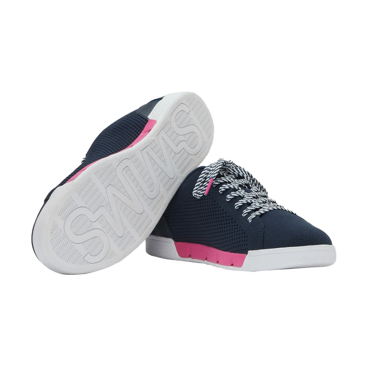 Psycho Bunny x SWIMS Breeze Knit Tennis - background::white,variant::navy
