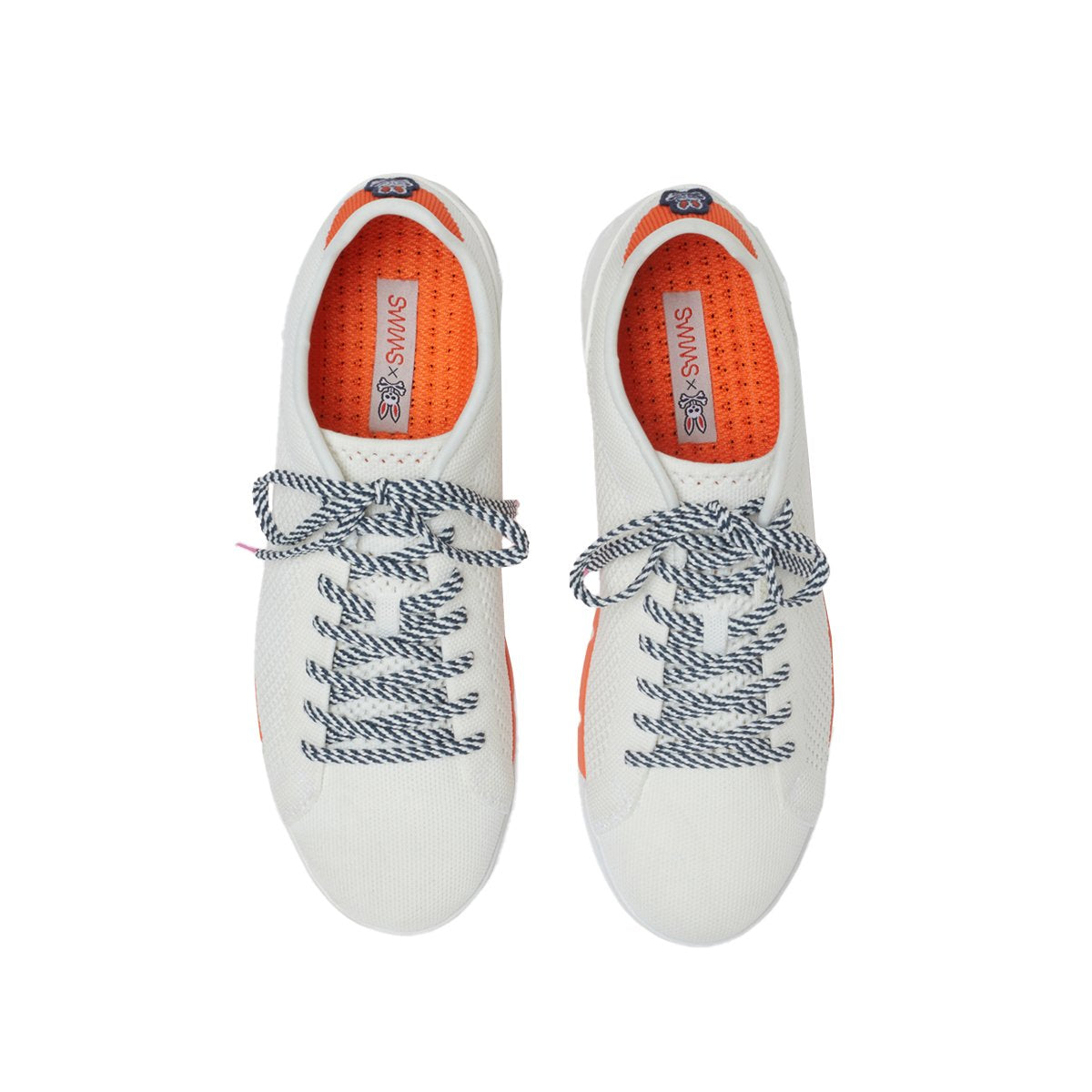 Psycho Bunny x SWIMS Breeze Knit Tennis - background::white,variant::white