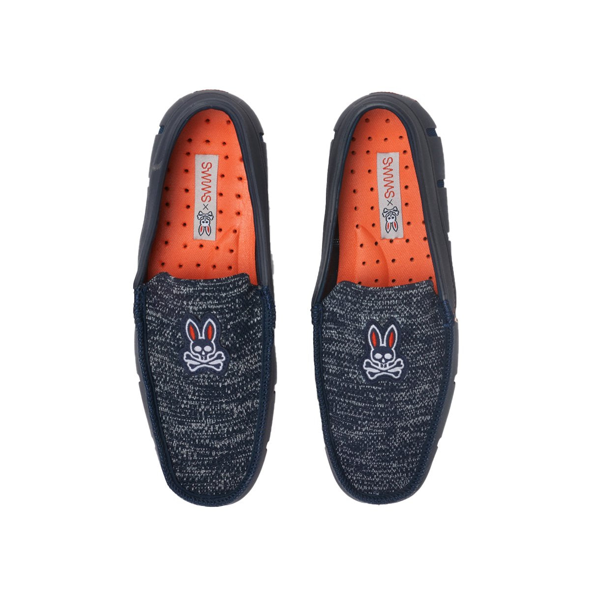 Psycho Bunny x SWIMS Classic Venetian Loafer - background::white,variant::navy